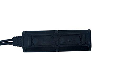 【Tienda oficial de element airsoft】Night-Evolution Tactical Double Remote Control (2Plug) para armas Accesorios de luz y vista NE07011-BK