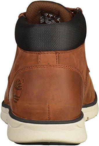 Timberland Bradstreet Leather Sensorflex, Botas Chukka para Hombre, Marrón MD Brown Full Grain, 42 EU