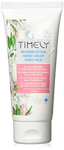 Timely - Crema de manos hidratante y regeneradora con leche de cabra, 100 ml