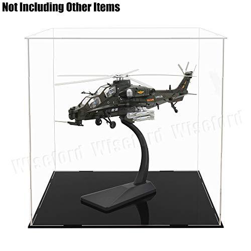 Tingacraft - Vitrina de Acrílico 300 x 300 x 300 mm para Balón de Fútbol/Helicóptero