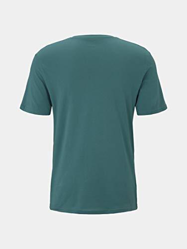 Tom Tailor Logo T-Shirt Camiseta, 21178, XL para Hombre