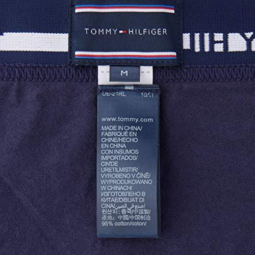 Tommy Hilfiger 3p Trunk Bóxer, Azul (Peacoat-Pt 409), X-Large (Pack de 3) para Hombre