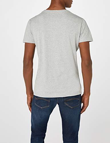 Tommy Hilfiger Logo Camiseta de Cuello Redondo,Perfecta para El Tiempo Libre, Gris (Grey Heather), XL para Hombre