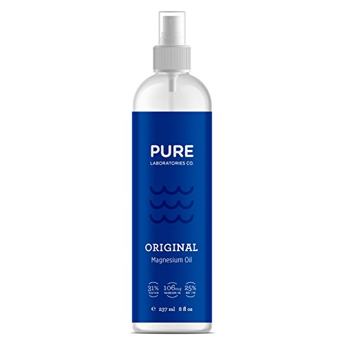 Transdermal Magnesium Oil Spray - Super Potent 31% Concentration - 8 fl oz / 237 ml - Sourced From Ancient Zechstein Mineral Seabed - 106mg/1ml by Pure