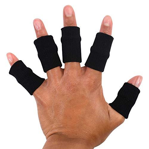 TRIXES Protector elástico para dedos, apoyo artritis ayuda en deportes x 10
