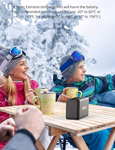 Tronsmart Mega Altavoz Bluetooth, Sonido Digital 3D, Panel Táctil, 40W Altavoz inalámbrico Portátil con TWS & NFC, 15H de Reproducción Continua y Manos Libres para Fiesta, Hogar, Playa, Viajes - Negro