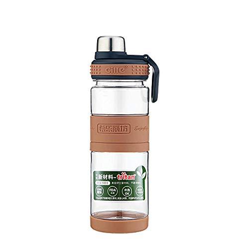 Tyarwqg - Botella de agua para ciclismo, 350 ml o 500 ml de acero inoxidable, taza de agua de oficina para hombre, diseño de bala, oficina deportiva, 500 ml, color marrón