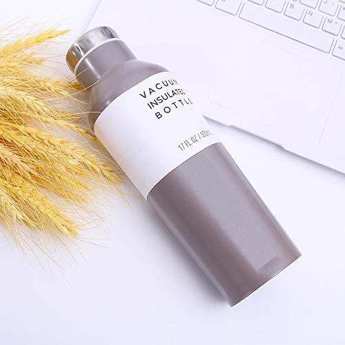 Tyarwqg - Botella de vino tinto, botella de agua fría al vacío, color acero inoxidable, vaso de agua portátil, 360 ml