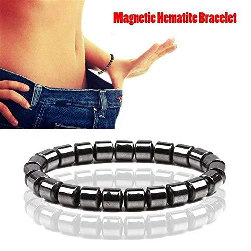 UALLL Pulsera Salud Magnética para Hombre, Cuidado de la Salud hematita Pulsera expansible for el Regalo de la joyería Hombres de Las Mujeres (Metal Color : 71 Style)