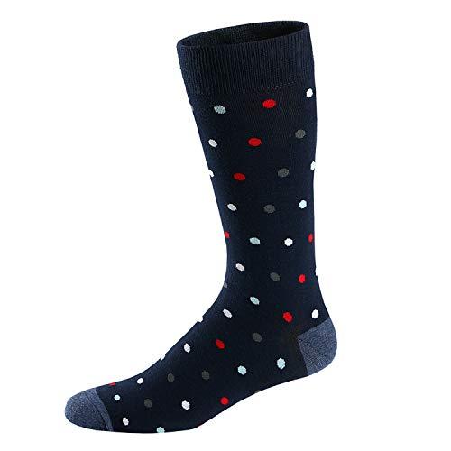 Ueither Calcetines Estampados Hombre Casuales Divertidos Calcetines altos de Colores con Algodón Fino (42-48, Color 9)