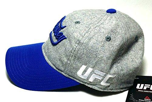 UFC Reebok Rbk artes marciales mixtas–Ronda Rousey combate–Gorra gris azul Papá Sombrero