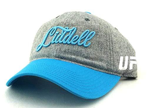 UFC Reebok Rbk–Chuck Liddell de MMA Fighter–Gorra gris azul Papá Sombrero