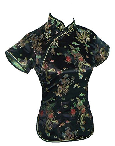 UK Stock - Camisas - Manga corta - para mujer negro negro
