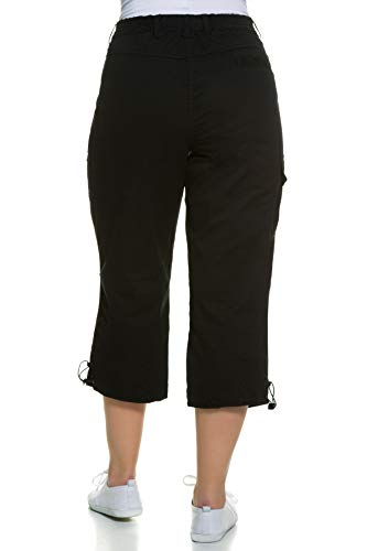 Ulla Popken Hose, 7/8, Pantalones Para Mujer, Negro (Schwarz 10), 52