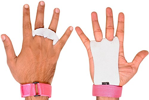 ULTRA FITNESS Children's Hand Pads for Children, Gymnastics, Crossfit, Boxing, Gym, Strength Training, Pink Hands, Size Medium