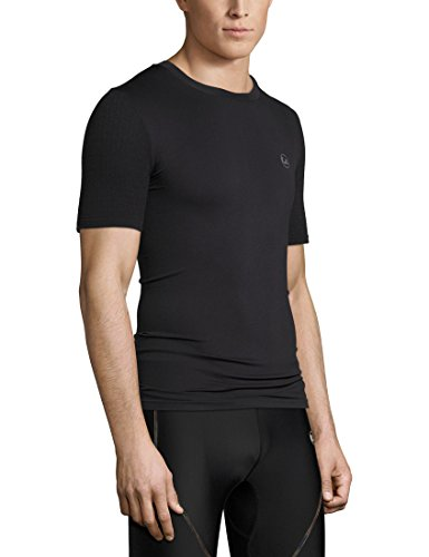 Ultrasport Basic Noam Camiseta de compresión sin Costuras, Hombre, Negro, L/XL