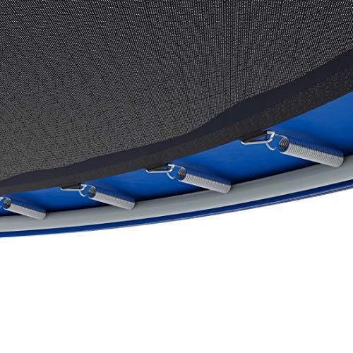 Ultrasport Cama elástica de jardín Uni-Jump Trampolín Infantil, certificación Intertek GS, con Superficie de Salto, Red de Seguridad, Unisex Niños, Azul, 183 cm