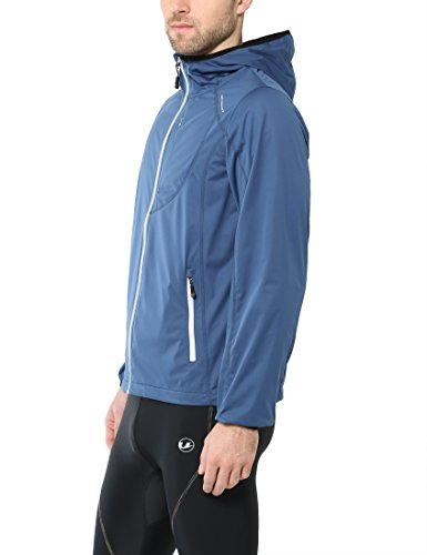 Ultrasport Chaqueta multifuncional de hombre Endy con Ultraflow 3.000, ligera y transpirable; por este motivo, ideal como chaqueta de correr, de entrenamiento o de ciclismo, impermeable y resistente al viento, Azul, 2XL