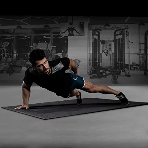 Ultrasport Esterilla fitness en 3 tamaños, esterilla para aparatos de fitness, esterilla protectora al entrenar, esterilla protectora de suelo para bicicleta elíptica, cinta de correr y otros aparatos