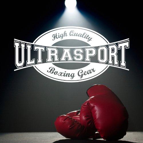 Ultrasport Serie Gear Ultra Guantes de Boxeo, Unisex, Negro, XL