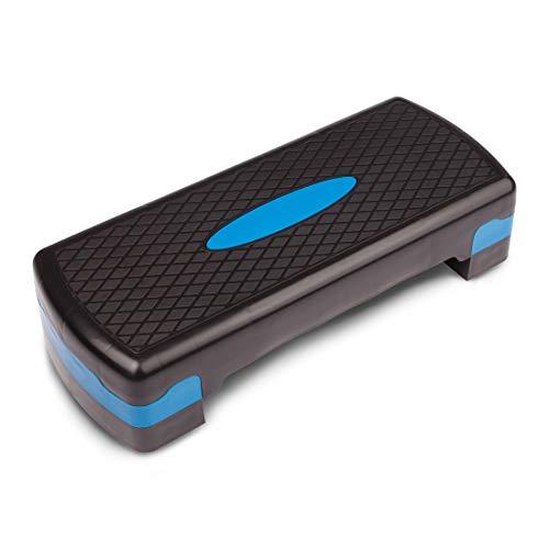 Ultrasport Step, Stepper óptimo para el aeróbic y el fitness, regulable en alturas diferentes, con superficie antideslizante,diferentes colores y tamaños,peso óptimo del usuario 150kg
