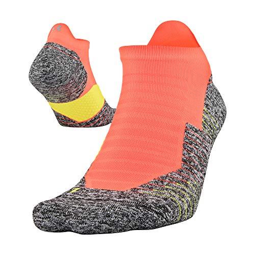 Under Armour Calcetines correr, unisex, 1 par, Calcetines Run Cushion No Show Tab, 1 par, Unisex adulto Hombre, color Naranja Afterburn., tamaño Shoe Size: Mens 4-8, Womens 6-9