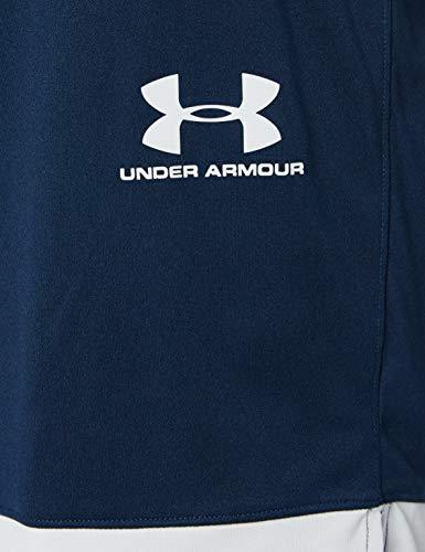 Under Armour Challenger III Knit Short, Pantalones Cortos para Entrenar, pantalón Short de Hombre para Correr Hombre, Azul (Academy/Halo Gray/Halo Gray (408)), M