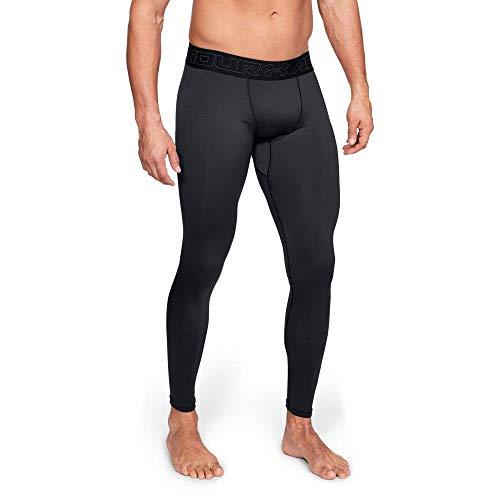 Under Armour Coldgear Leggings, Hombre, Negro (Black/Charcoal 001), M