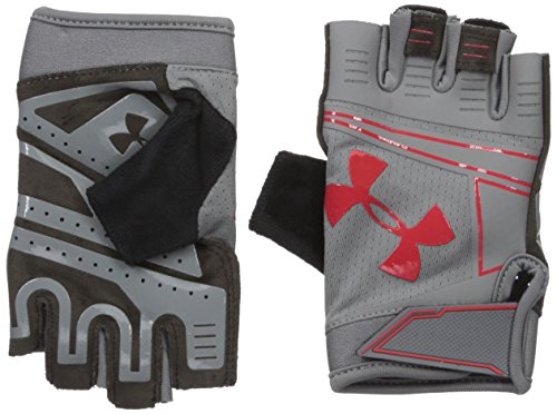 Under Armour Cool Switch Flux Guantes, Hombre, Gris/Rojo, S
