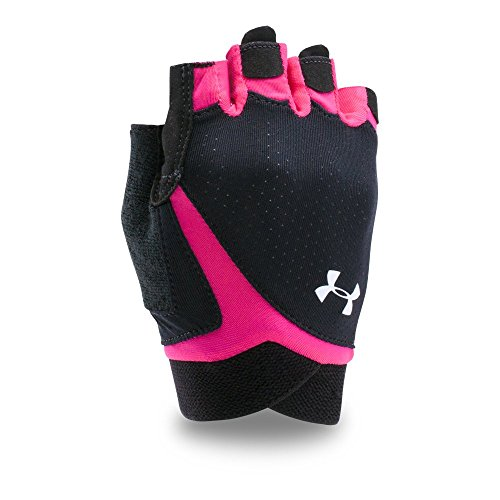 Under Armour CS Flux Training Guantes, Mujer, Black/Tropic Pink/White, L