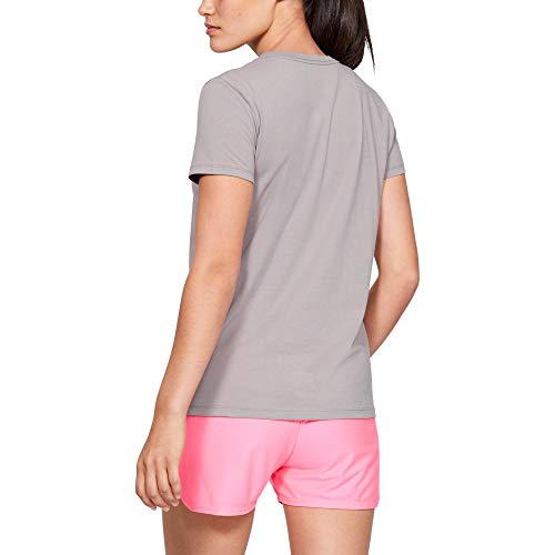 Under Armour Graphic Bl Classic Crew Camiseta, Mujer, Gris (Tetra Gray/Mojo Pink 015), S
