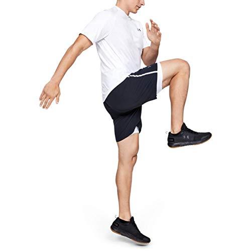 Under Armour HeatGear ARMOUR 2.0 COMP Shorts, Pantalón Corto Hombre, Blanco (White/Graphite 100), M