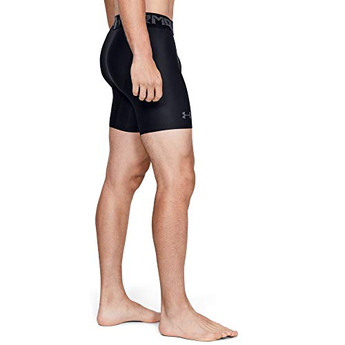 Under Armour HeatGear ARMOUR 2.0 COMP Shorts, Pantalón Corto Hombre, Negro (Black/Graphite 001), L