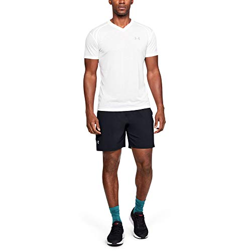 Under Armour Launch SW Short Pantalones, Hombre, Negro (Black/Black/Reflective 001), L
