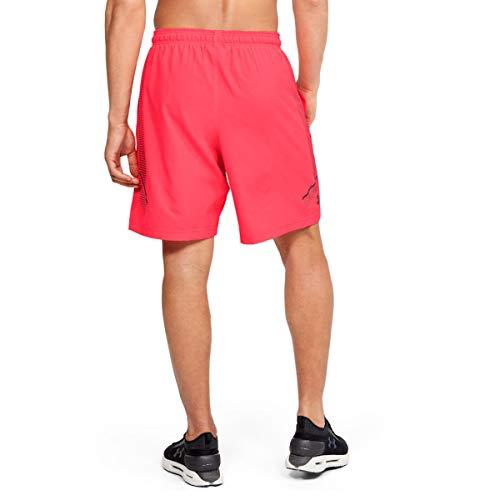 Under Armour Pantalones cortos para hombre - 1309651, Pantalones cortos gráficos tejidos., Large, Beta (628)/Córdoba