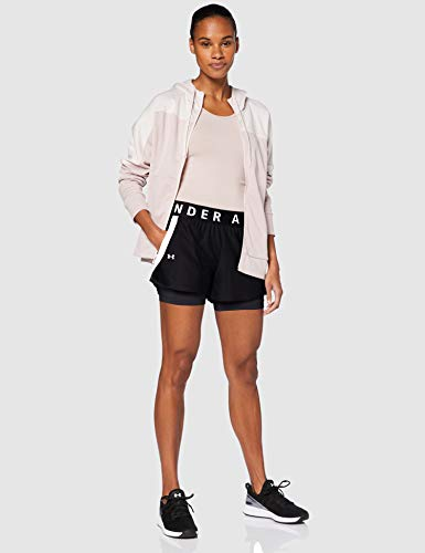 Under Armour Play Up 2-In-1 Corto, Mujer, Negro, SM