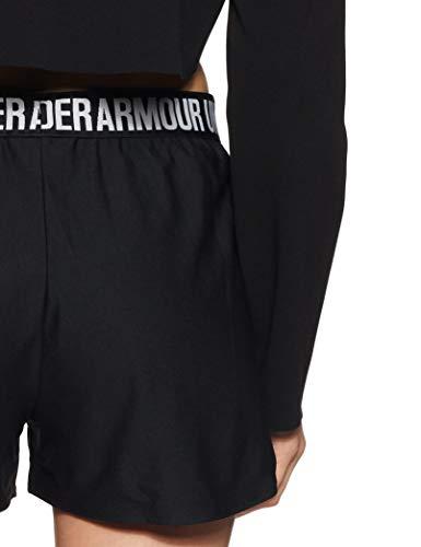 Under Armour Play Up Short 2.0 Pantalón Corto, Mujer, Negro (Black/Black 002), S