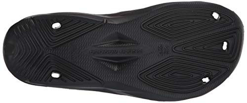 Under Armour Slides UA Locker III Chanclas de hombre, zapatos para playa de secado rápido, chanclas con correa ideales para el vestuario y la piscina, Black/Metallic Silver (001), 10