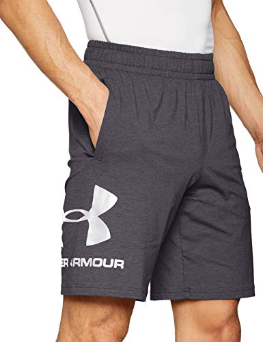 Under Armour Sportstyle Cotton Logo Shorts, Pantalón Corto Hombre, Gris (Halo Gray(020)), S