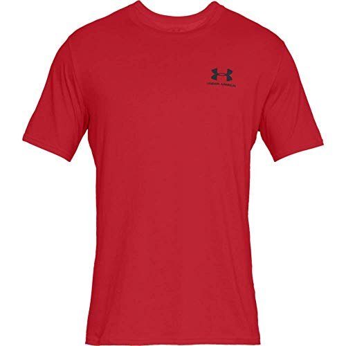 Under Armour Sportstyle Left Chest Camiseta, Hombre, Rojo (Red-600), XXL
