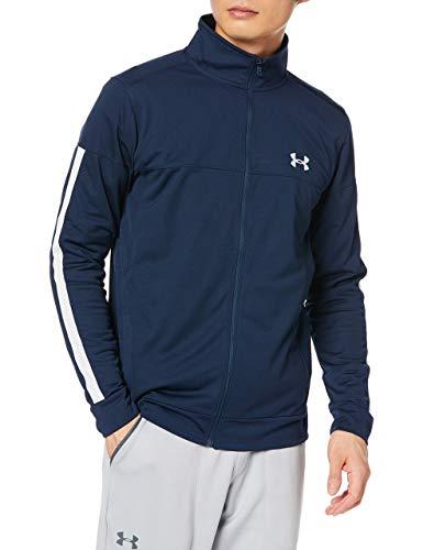 Under Armour Sportstyle Pique Track Jacket Chaqueta, Hombre, Azul (Academy/Academy/White 409), L