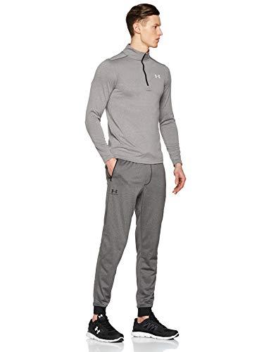 Under Armour Sportstyle Tricot Jogger Pantalones, Hombre, Gris (Carbon Heather/Black 090), L