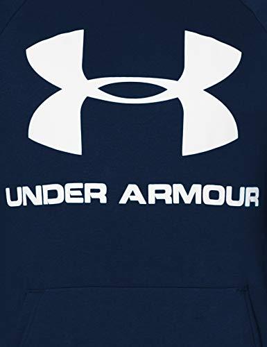 Under Armour Sudadera Con Capucha De Tejido Fleece Y Logotipo Ua Rival Sudadera Con Capucha, Hombre, Navy, Lg