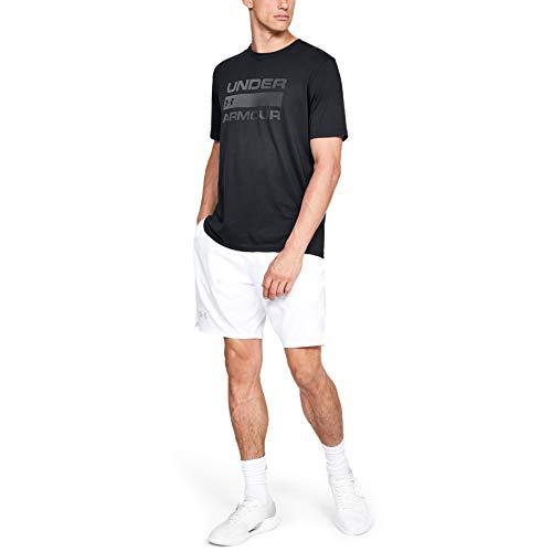 Under Armour Team Issue Camiseta para Hombre con Logotipo, Camiseta Deportiva Transpirable, Camiseta de Manga Corta para Hombre cómoda y Ancha, Black/Rhino Gray (001), LG