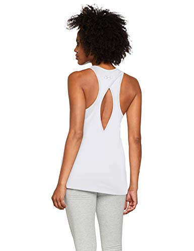 Under Armour Tech Tank Graphic - Camiseta sin Mangas, Mujer, Blanco (White/Black 100) M