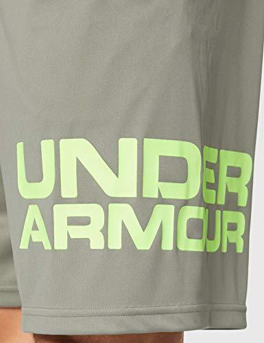 Under Armour Tech Wordmark Corto, Hombre, Verde, LG