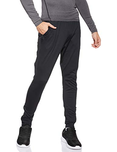 Under Armour UA Challenger II Pantalones para Hombre, Ajustado pantalón de chándal, Pantalones Largos ultraligeros y de Secado rápido, Black/Graphite (001), LG