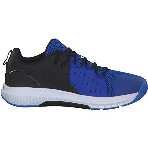 Under Armour UA Charged Commit TR 2, Zapatillas Deportivas para Interior para Hombre, Azul Versa Blue White Black, 45 EU