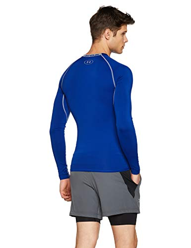 Under Armour UA HeatGear Long Sleeve Camiseta De Manga Larga, Hombre, Azul (Royal/Steel 400), L