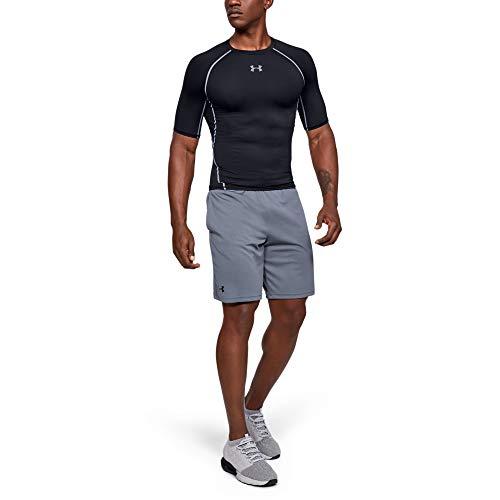 Under Armour UA Heatgear Short Sleeve Camiseta, Hombre, Negro (Black/Steel 001), M
